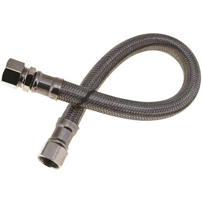 SINK WATER CONNECTOR SUPPLY LINE 3/8 IN. COMP X 3/8 IN