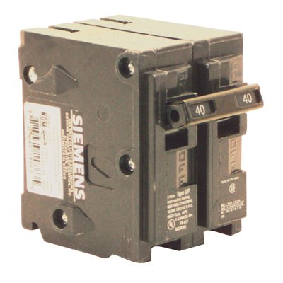 siemens part q240 siemens 40 amp double pole type qp circuit