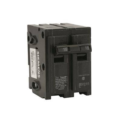 Siemens Part # Q215 - Siemens 15 Amp Double-Pole Type Qp