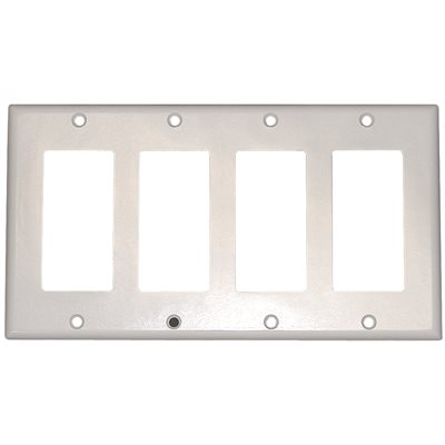 Leviton Part 80412 I Leviton 4 Gang Decora Switch Wall Plate