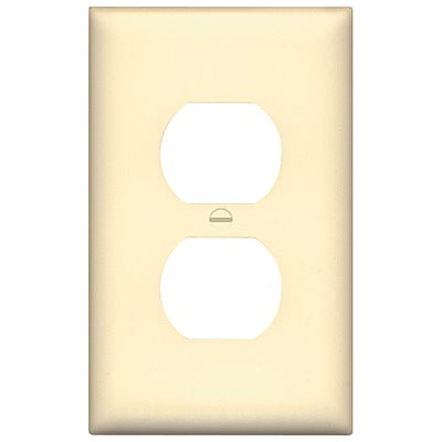 Leviton Part 80503 W Leviton White 1 Gang Duplex Outlet Wall Plate 1 Pack Outlet Wall Plates Home Depot Pro