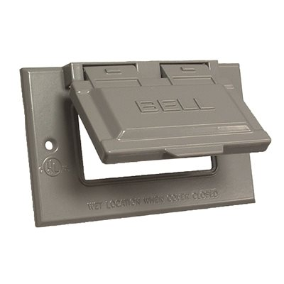 Bell Part 5101 0 Bell Gray 1 Gang Gfci Weatherproof Cover With