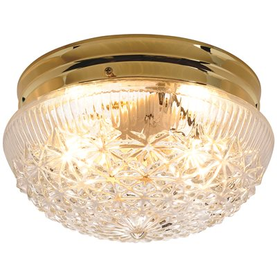Royal Cove Part Royal Cove Diamond Cut Glass Ceiling Fixture