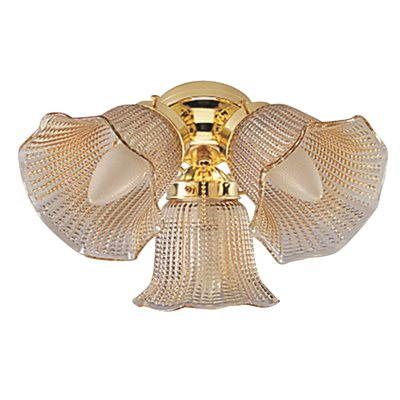 National brand alternative part 3 light ceiling fan light kit 3 light ceiling fan light kit with champagne amber beaded tulip glass brass aloadofball Choice Image