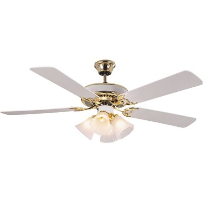 National brand alternative part 5 blade ceiling fan with light 5 blade ceiling fan with light whitepolished brass 52 in audiocablefo