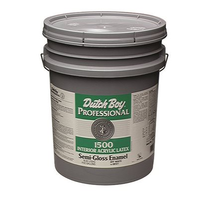 DUTCH BOY INTERIOR ACRYLIC LATEX PAINT SEMI GLOSS WHITE 5 GAL