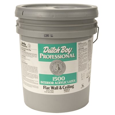 DUTCH BOY INTERIOR ACRYLIC LATEX PAINT FLAT WHITE 5 GALLON
