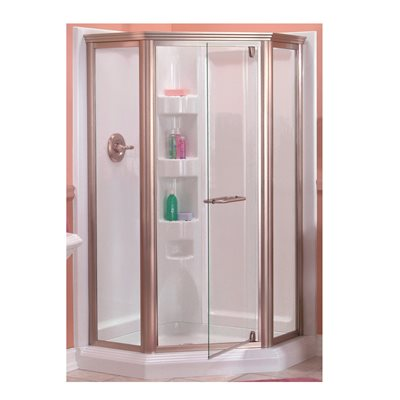 Neo Angle Shower Enclosure With Nickel Frame
