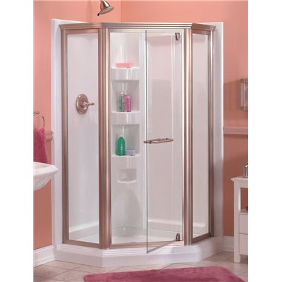 Neo Angle Shower Base In White