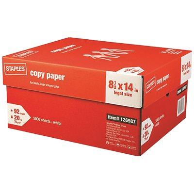 Staples Part # - Staples Copy Paper 8 1/2 X 14 Legal - Copy