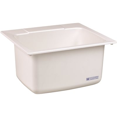 EL MUSTEE 17-GALLON SINGLE BOWL UTILITY SINK, 25 X 22 X 13-3/4 IN., WHITE