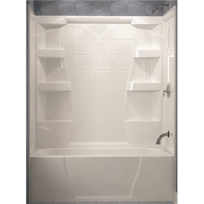 FIRENZE® 3 PIECE BATHTUB WALL, 60 IN., HIGH GLOSS WHITE