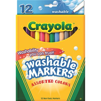 part crayola washable markers fine point classic colors 12