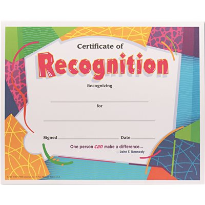 trend enterprises inc part tept2965 certificate of recognition