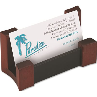 Rolodex Part ROL81766 Rolodex WoodLeather Business Card
