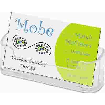 Deflecto corporation part def70101 horizontal business card horizontal business card holder 3 34w x 1 78h x 1 reheart Gallery