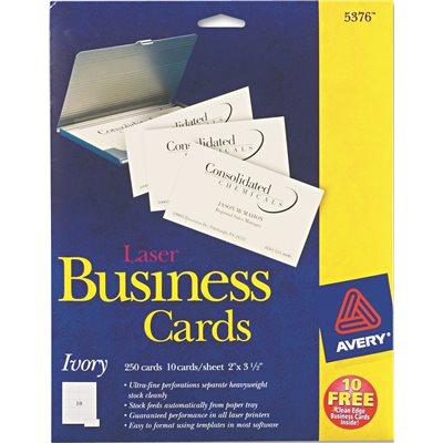 Avery dennison part ave5376 avery laser business cards 2 x 3 1 avery laser business cards 2 x 3 12 ivory 10 cards colourmoves