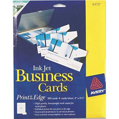 Avery dennison part ave8373 avery inkjet glossy business cards avery inkjet glossy business cards 2 x 3 12 white 8 colourmoves