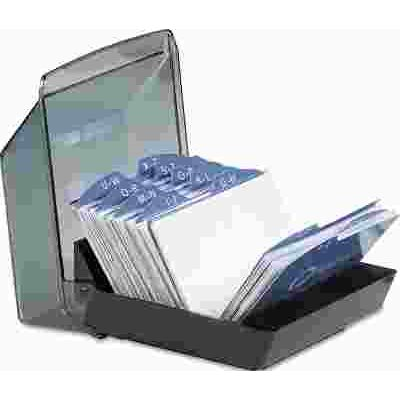 Rolodex part rol67197 rolodex covered tray business card file rolodex covered tray business card file holds 100 2 58 x 4 cards colourmoves