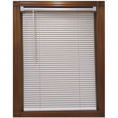 DESIGNER'S TOUCH WHITE CORDLESS 1 IN. LIGHT FILTERING VINYL BLIND - 59 IN. W X 64 IN. L