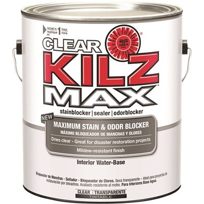 Kilz Part # L200401 - Kilz® Max Clear Water-Based Primer, Interior ...