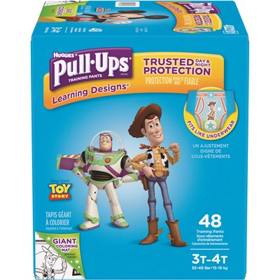 Pull-Ups Learning Designs Training Pants for Boys 3T-4T 38 Count 32-40 lb.