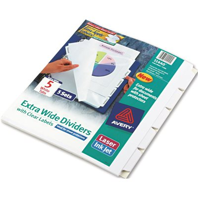 part avery index maker clear label dividers 5 tab 11 1 4 x 9 1