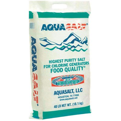 Aqua Salt Part Usc 50 1040 Aqua Salt 40 Lbs Food Quality Pool Salt Bags Pool Balancers Home Depot Pro