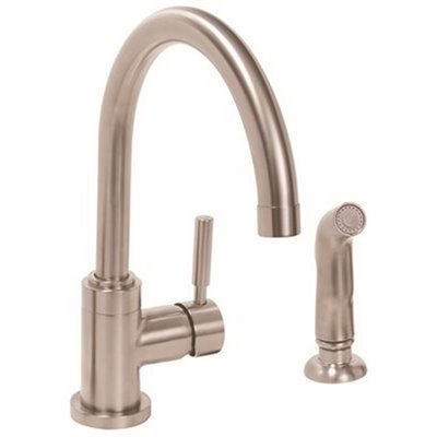 Premier Part 65821w 1001 Essen Single Handle Kitchen Faucet With Side Spray In Chrome Faucets Home Depot Pro
