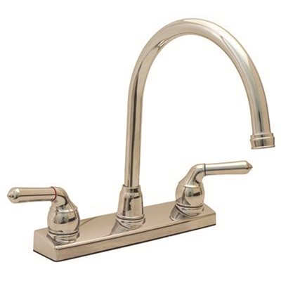Proplus Part 120375 2 Handle Standard Kitchen Faucet In Chrome Two Faucets Home Depot Pro