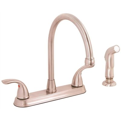 Premier Part 67710w 1004 Westlake 2 Handle Kitchen Faucet With Side Spray In Brushed Nickel Two Faucets Home Depot Pro
