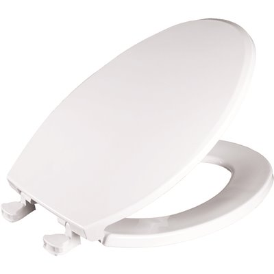 BEMIS Lift-Off Round Closed Front Toilet Seat in White Easy Cleaning Replacement