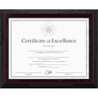 Part Solid Wood Awardcertificate Frame 8 12 X 11 Black W