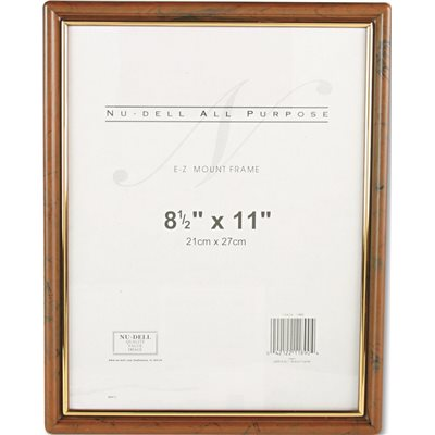 Part Ez Mount Document Frame Plastic 8 12 X 11 Walnut
