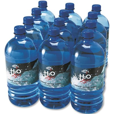 BOTTLED SPRING WATER, 1 LITER, 12 BOTTLES/CARTON