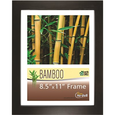 Part Bamboo Frame 8 12 In X 11 In Black Frames Plaques