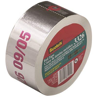 3m Scotch Foil 3326 Tape Ul181 Silver 2 5 In X 60 Yd