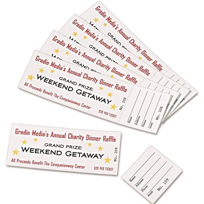 avery dennison part ave16154 avery tickets with tear away stubs