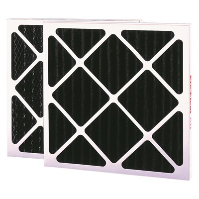 flanders merv 6 pleated activated carbon air filter charcoal 12x24x4 in