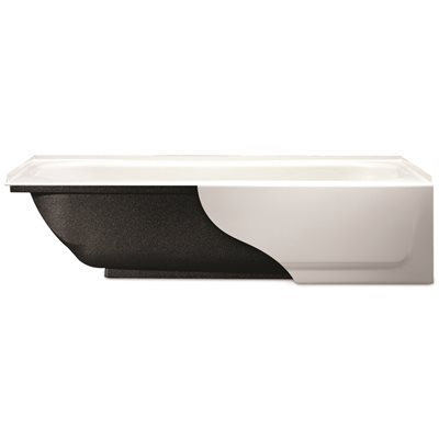 5 Ft. White Bootzcast Bathtub Porcelain On Steel Right-Hand Outlet