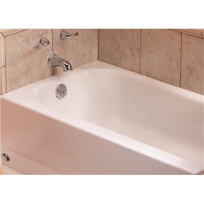 Bootz Industries BootzCast 5 Ft. Left Drain Soaking Tub In White