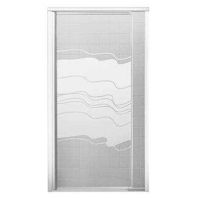 Sterling Plumbing Part # 1500D-48S - Shower Door For Vikrell 48 In ...