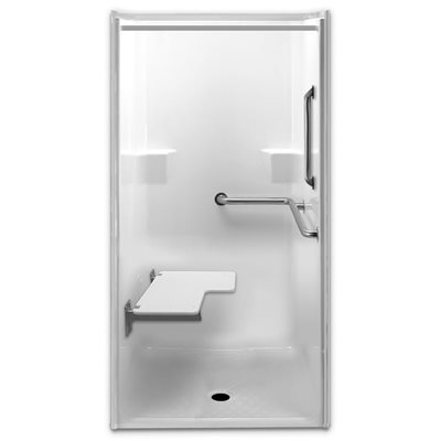 Merveilleux PRAXIS SHOWER STALL, GELLCOAT BARRIER FREE, RIGHT HANDED, 39 IN. X