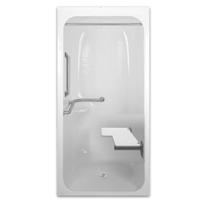 Beau PRAXIS SHOWER STALL, RESIN REINCORCED ACRYLIC, LEFT HANDED, 41 1/4