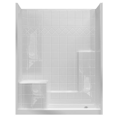 Attrayant PRAXIS SHOWER STALL, GELCOAT THREE PIECE, RIGHT HANDED, 60 IN. X