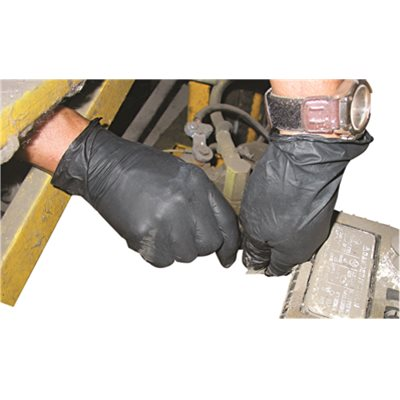 IMPACT PRODUCTS PROGUARD DISPOSABLE SMALL BLACK NITRILE POWDER-FREE GLOVES (BOX OF 100)