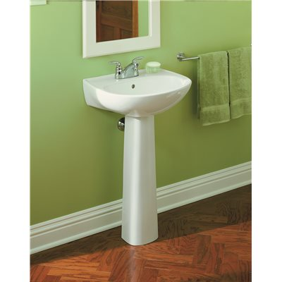 Charmant STERLING Sacramento 9 In. Wall Hung Vitreous China Pedestal Sink Basin In  White With