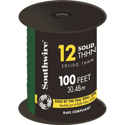 Southwire Part # 11591584 - Southwire 100 Ft  12 Green Solid
