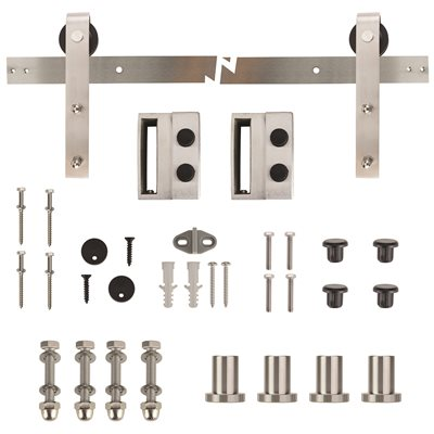 EVERBILT® BARN/SLIDING DOOR TRACK HARDWARE, STAINLESS STEEL