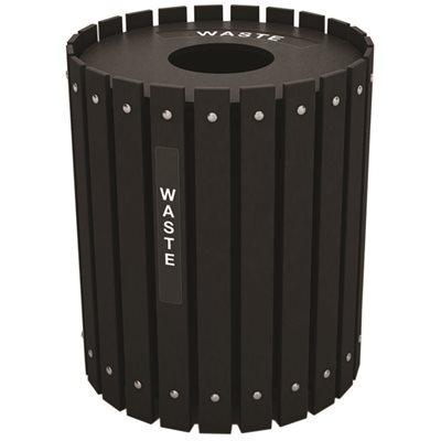 Nex-Terra Part # - Nex-Terra Round Waste Bin, 32 Gallon
